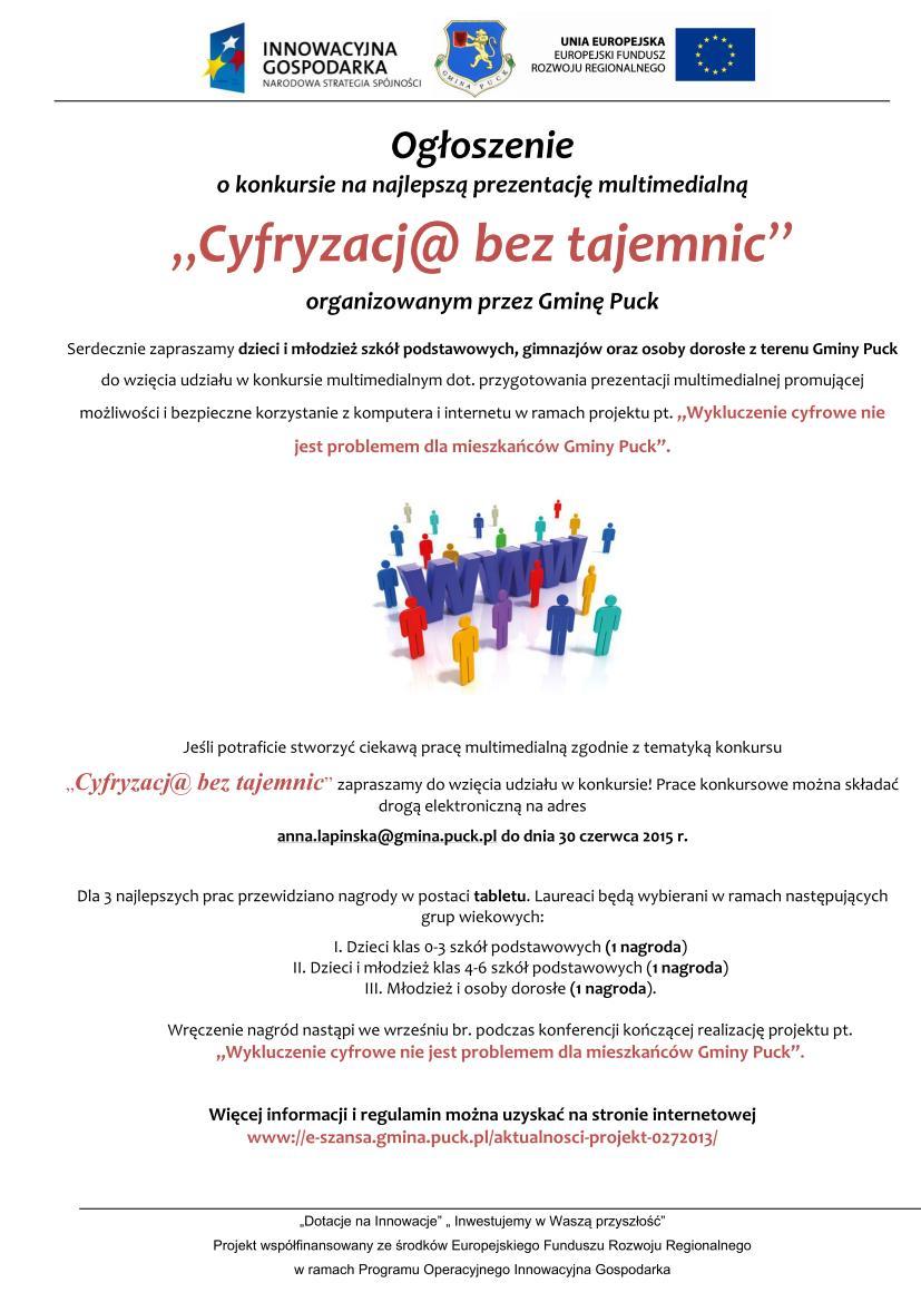 Ogłoszenie o konkursie -projekt 027_01