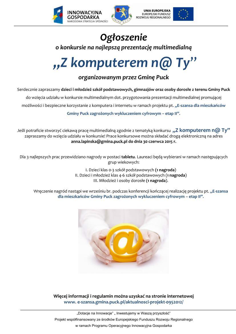 Ogłoszenie o konkursie -projekt 0915_01