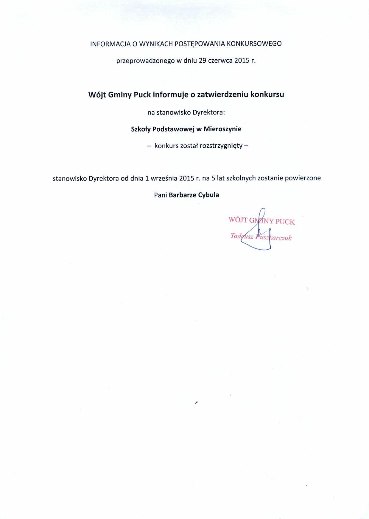 Konkurs Mieroszyno II