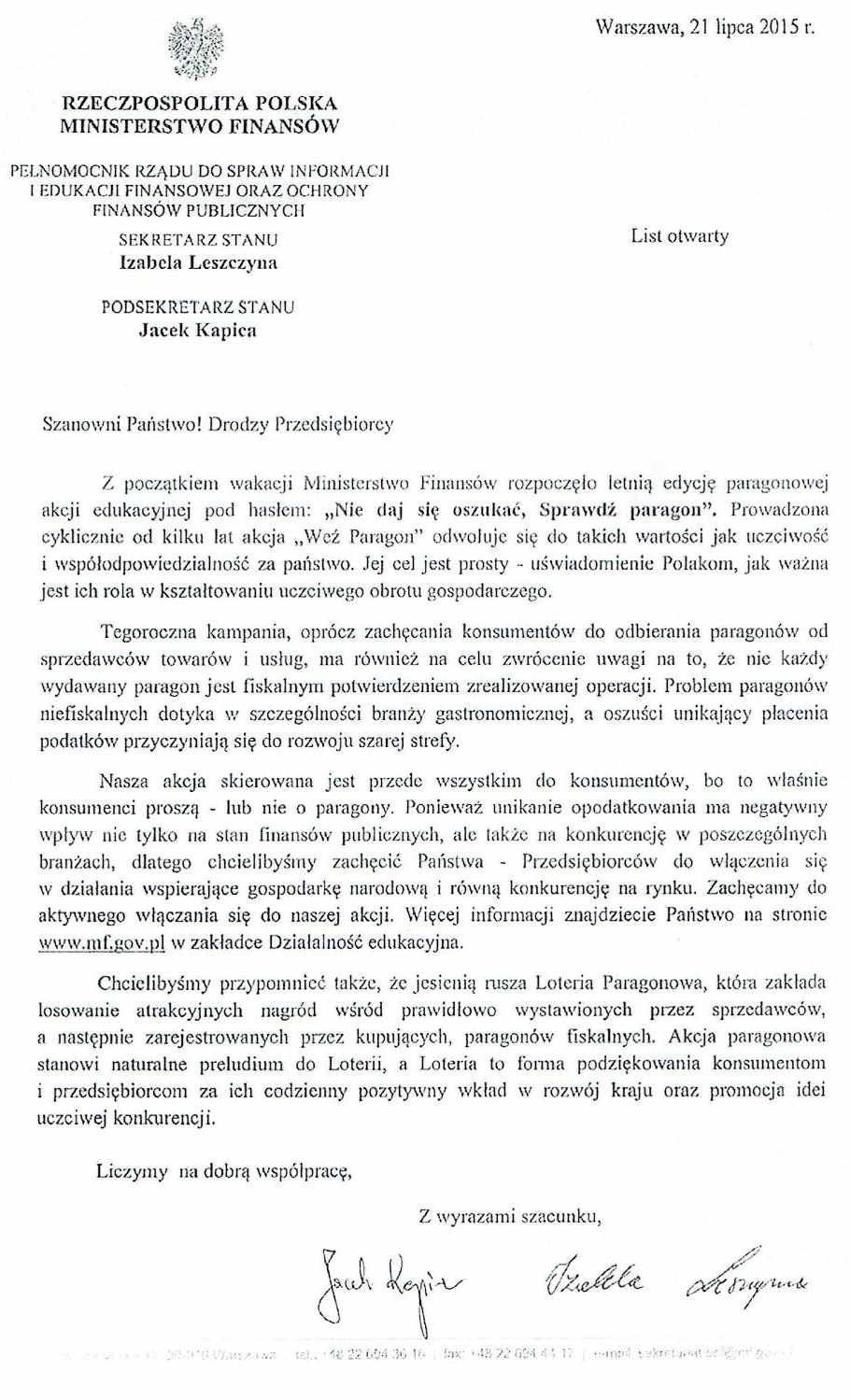 List otwary - akcja WEŹ PARAGON_01