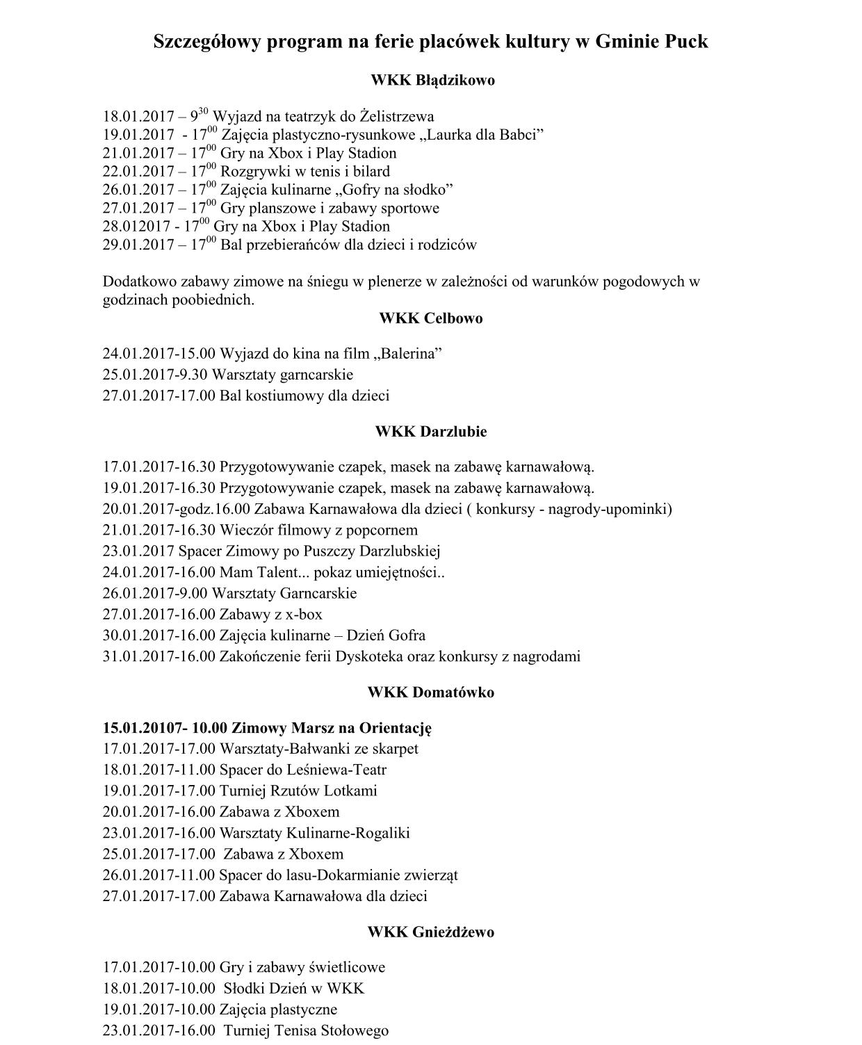 Szczegółowy program na ferie placówek kultury w Gminie Puck_01