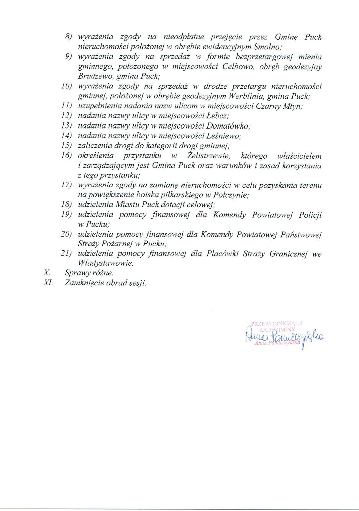 Proponowany porządek obrad XXXIV sesji Rady Gminy Puck - dnia 30 marca 2017 roku_02