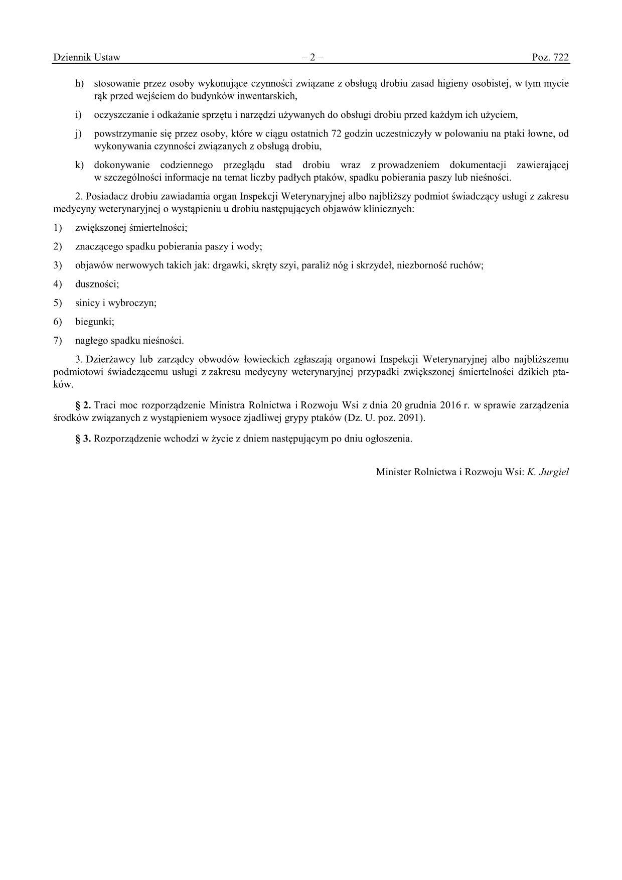 rozp. z dnia 4 kwietnia 2017 w sprawie zarządzenia środków związanych z wystąpieniem wysoce zjadliwej grypy ptaków_02
