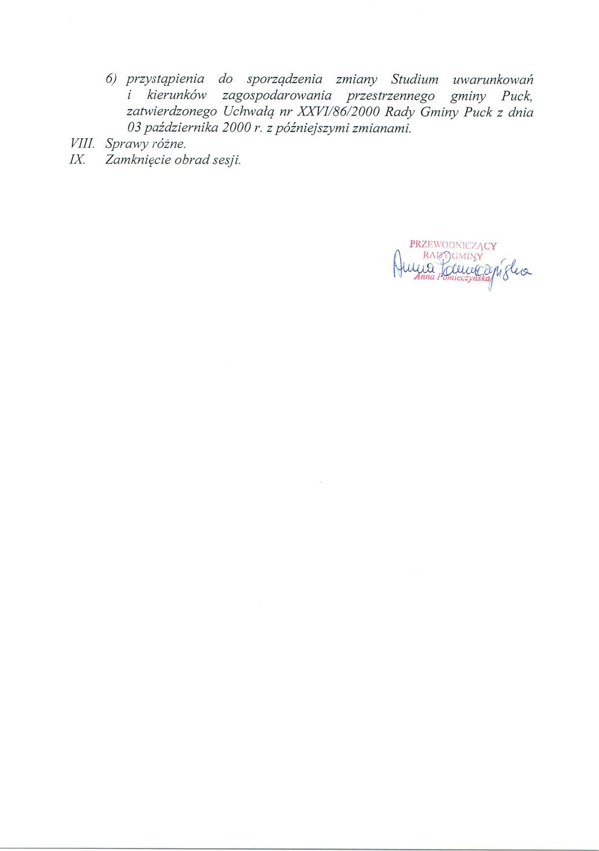Proponowany porządek obrad XXXVIII sesji Rady Gminy Puck - dnia 08 czerwca 2017 roku_02