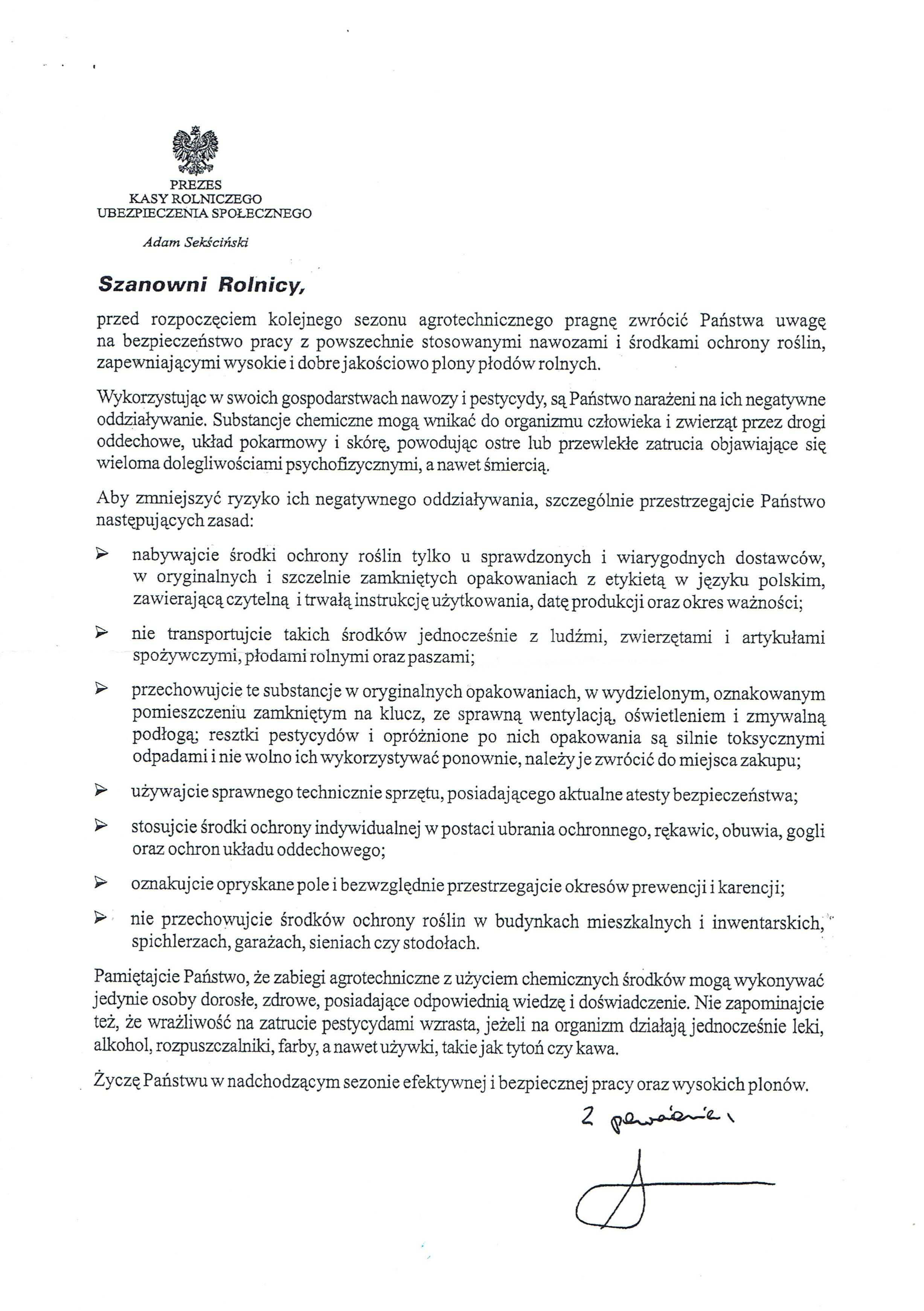LIST Prezesa KRUS A. Sekściński-23.06.2017_01