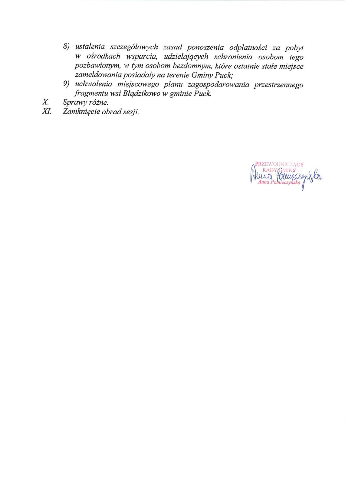 Proponowany porządek obrad XLIV sesji Rady Gminy Puck - dnia 11 października 2017 roku_02