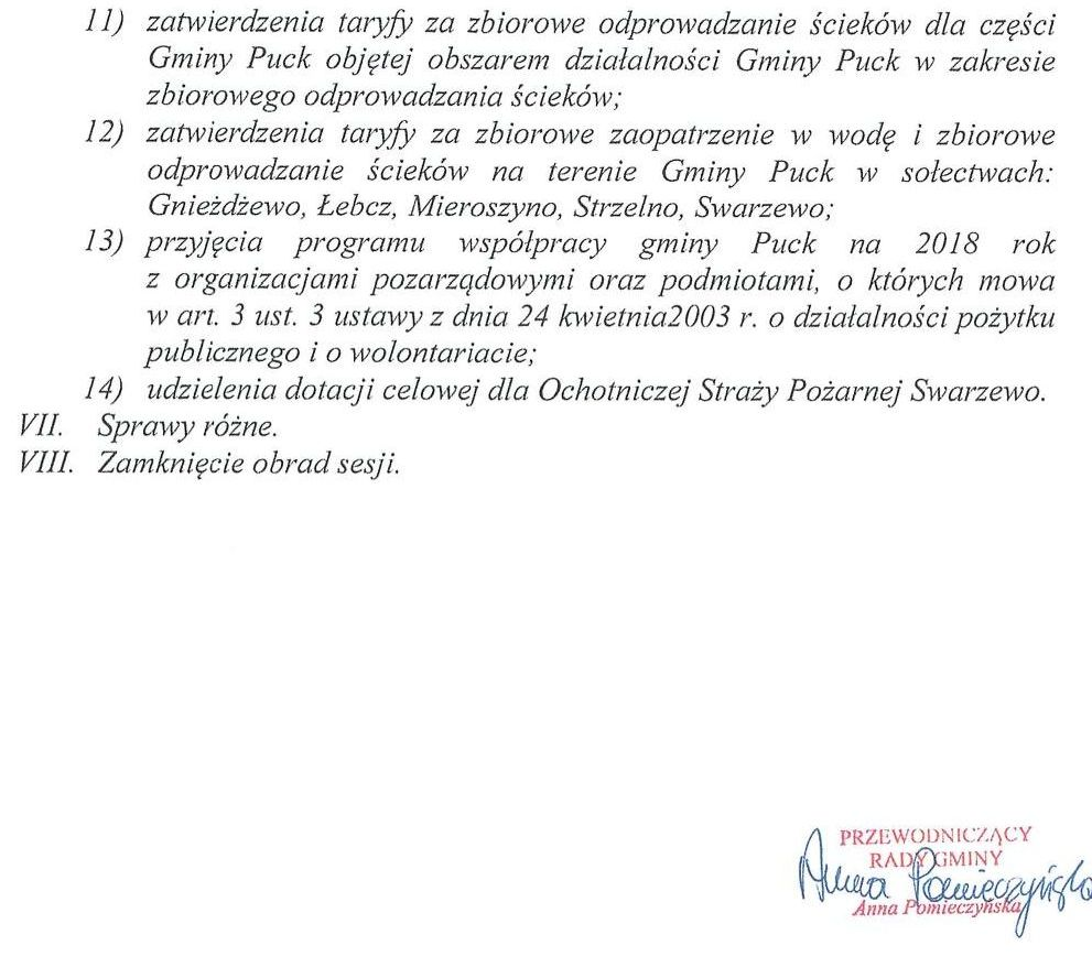 Proponowany porządek obrad XLVI sesji Rady Gminy Puck - dnia 30 listopada 2017 roku_02