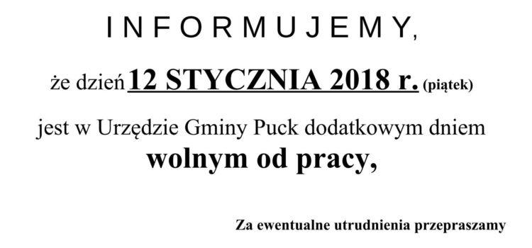 INFORMACJA UG NECZYNNY 12.01.2018_Urząd Gminy Puck informuje_01x