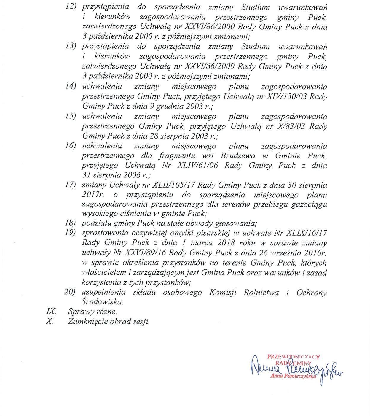 Proponowany porządek obrad LI sesji Rady Gminy Puck - dnia 26 kwietnia 2018 roku_02