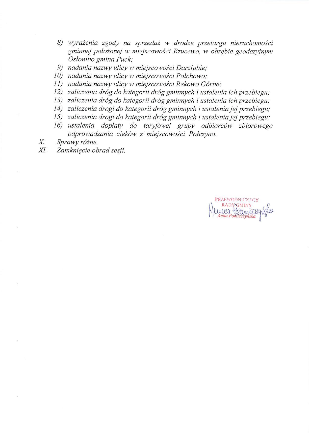 Proponowany porządek obrad LIII sesji Rady Gminy Puck - dnia 07 czerwca 2018 roku_02